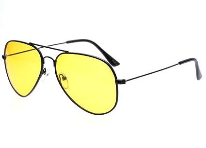 38eab0b6e56 Lorsoul Night View Night Vision Driving Eyewear Glasses Anti Glare Yellow  UV400 Aviator Polarized Sports Sunglasses