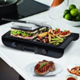 Costzon Indoor 2-in-1 Grill Griddle, Sandwich Maker with Lid, 1500W