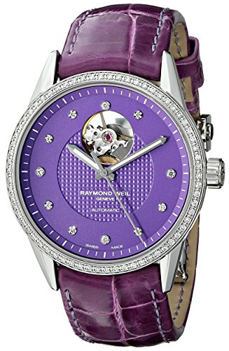 Raymond Weil Women's 2750-SLS-63081 Freelancer Analog Display Swiss Automatic Purple Watch