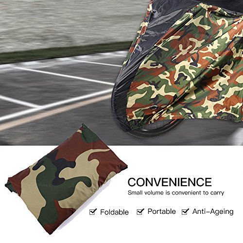 190T Portable Bicycle Cover, Bike Rain Dust Cover UV Protection for Outdoor Indoor Bike Storage Cover