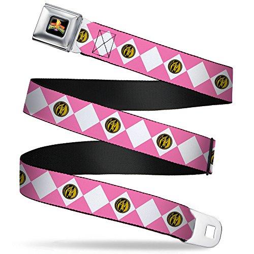 Buckle-Down Seatbelt Belt - Diamond Pink Ranger - 1.0