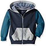 Fruit of the Loom Big Boys' Explorer Fleece Give Me S'More Warmth Hoodie, T.Blue Heather/Amulet Teal Heather/Athletic Heather/Smoke Blue Stripe, Small