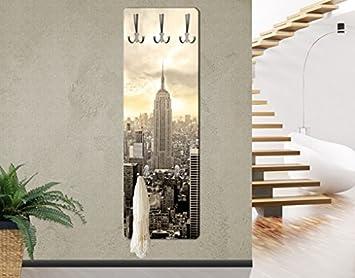 Appendiabiti - Manhattan Dawn 139x46x2cm, appendiabiti a muro ...