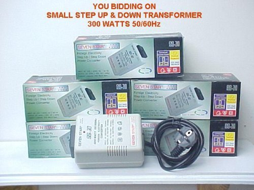 STEP UP DOWN TRANSFORMER ADAPTER 300W 110v/220v 220/110