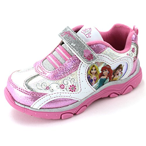 Disney Princess Girls Pink Lighted Sneakers Shoes (12 M US Little Kid)