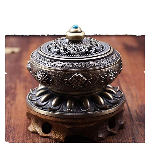 Mildtalk Antique Chinese Incense Burner Metal Incense Burner Round