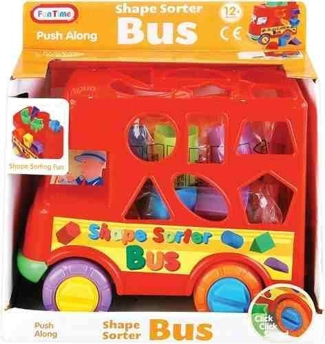 Baby Push Along Shape sorter Bus - Shape Sorting Fun! 12 Months + by Funtime by Funtime - Shape Sorting Bus