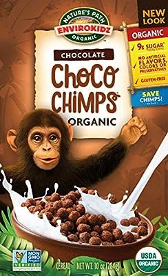 EnviroKidzOrganic Gluten-Free Cereal, Chocolate Choco Chimps, 10 Ounce