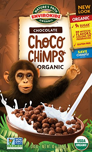 Gluten-Free Cereal, Chocolate Choco Chimps, 10 Ounce ()