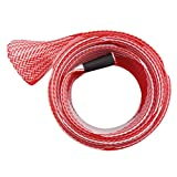 Gotd Fishing Rod Cover Rod Braided Strap Reel Cover Glove Protector (Red 04)