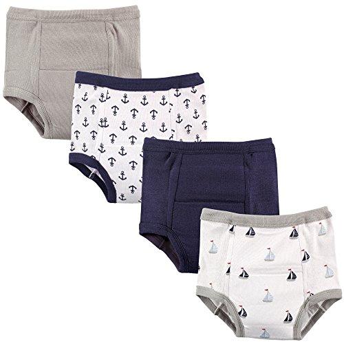 Cotton Sailor Pants - Luvable Friends Baby Cotton Training Pants, Little Sailor 4Pk, 12-18 Months
