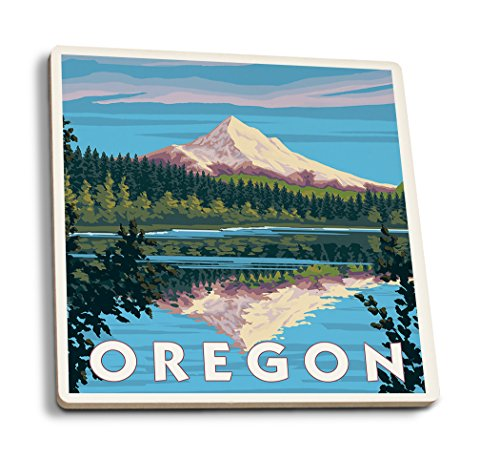 Lantern Press Mount Hood from Lost Lake, Oregon (Set of 4...