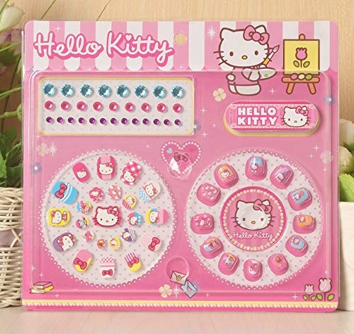 Hello Kitty and Friends Nail Stickers for Kids | Rhinestones Included | Kids Nail File Included
