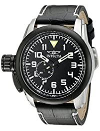 Invicta Men's 20461SYB Aviator Analog Display Quartz Black Watch