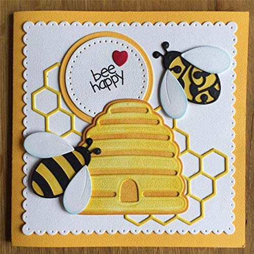 Amazon.com: Die Cuts - New 2019 for Scrapbooking Card Making Album Embossing Crafts Die Cut Craft Stencil/East Shape Bees and Beehive Metal Cutting Dies (Bees Cutting Dies)