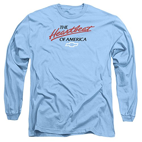 Long Sleeve: Chevrolet- Heartbeat Of America Longsleeve Shirt Size L