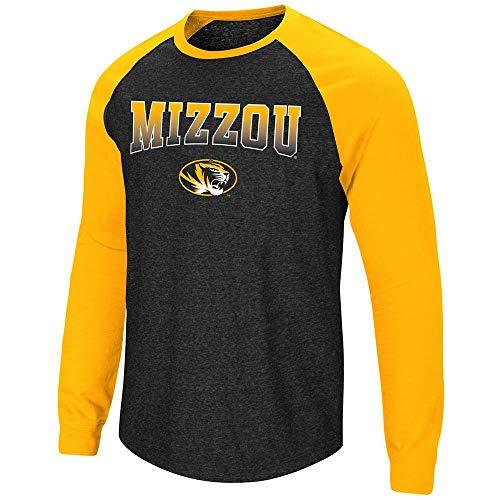 - Colosseum Mens Missouri Tigers Long Sleeve Raglan Tee Shirt - 2XL