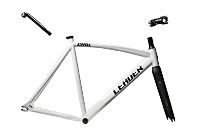 Amazon.com : Leader Cure Fixed Gear Track Frame Set (White, 62 ...