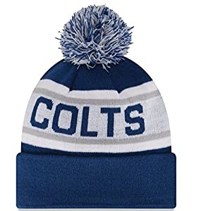 Indianapolis Colts Cuffed Pom Knit Beanie Hat Cap Embroidery Logo - Shipped from U.S.A.