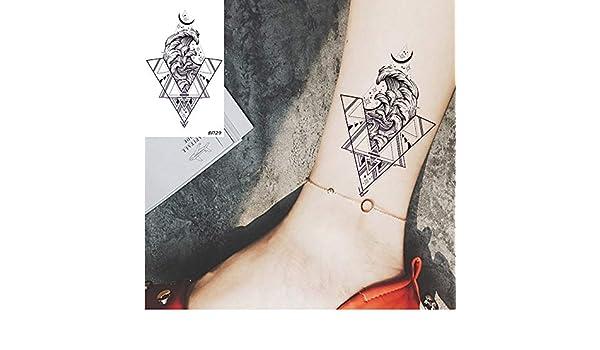 yyyDL etiqueta engomada colorida del tatuaje Triángulo Mar Ola ...