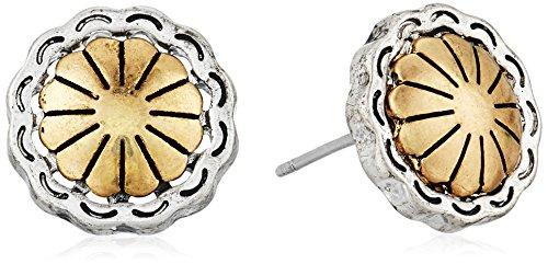 The SAK Concho Metal Stud Earrings