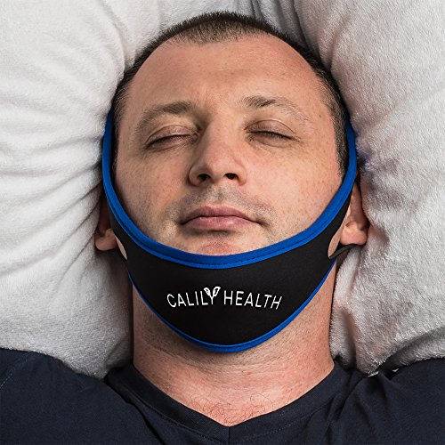 Calily Health Fully Adjustable Anti - Snoring Chin Strap – Natural and Instant Snore Relief – Stop Snoring Solution – Fast, Natural and Simple [UPGRADED VERSION]