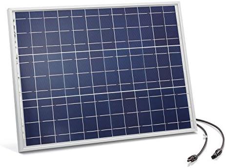 Solarmodul 50 Watt kristallin 18V mit MC4 Steckverbindungen Photovoltaik Camping, Abmessungen 690 x 507 x 35 mm Solarpanel esotec 120026