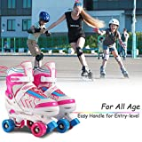 Hikole Roller Skates for Kids, Adjustable Size