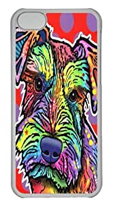 iPhone 5C Case and Cover - schnauzer Polycarbonate Hard Case Back Cover for iPhone 5C Transparent