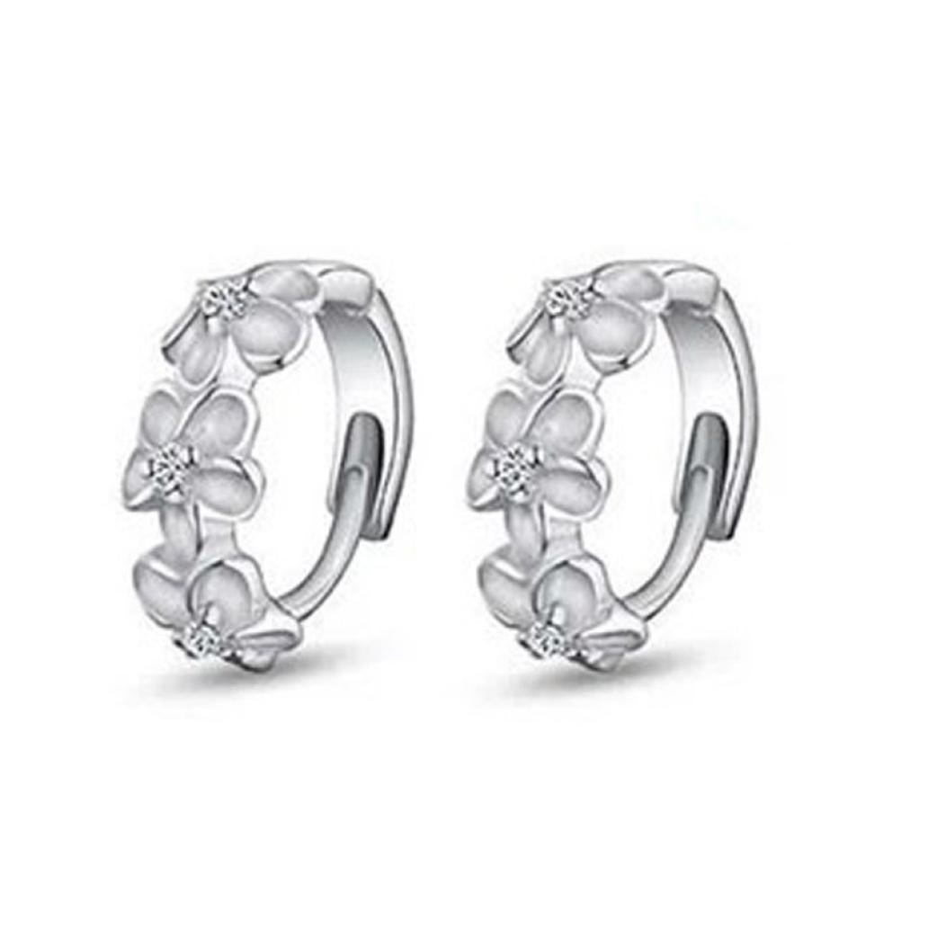 Stud Earrings, Muranba 1Pair Women's Camellia Of Design Of Small Hoop Stud Earrings Muranba 1Pair Women' s Camellia Of Design Of Small Hoop Stud Earrings
