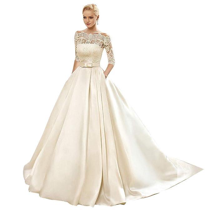 Women\'s A-line Vintage Sweetheart Lace Appliqued Bridal Gowns Wedding  Dresses Plus Size