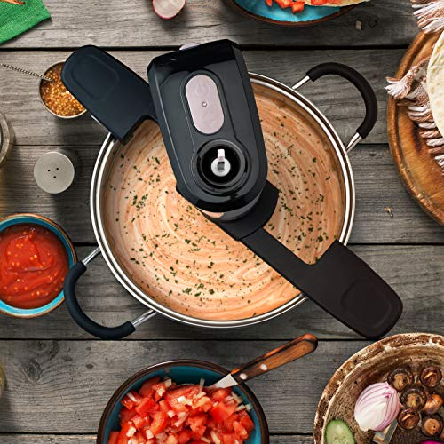 SAKI Automatic Pot Mixer Auto-Stirrer for Cooking - Adjustable, Hands Free, Electric - Self Stirring Kitchen Gadget with 2 speeds for Hot Pan, Saucepan - Easy-to-Use Food Tool Pot Accessories (Unique) by SAKI (Image #3)