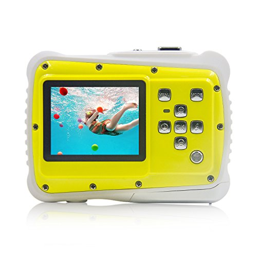 Underwater Camera Kids Digital Camera IP68 Waterproof Shatterproof Dustproof 5MP for Kids Outdoor use, Yellow,Sport Action Camera by lightfamily