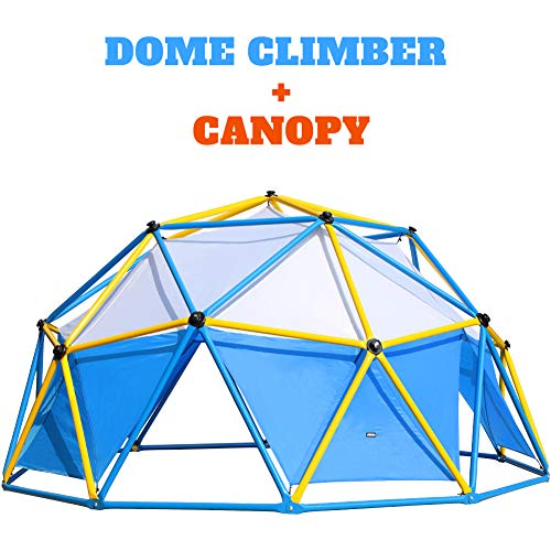 Zupapa 2020 Upgraded Outdoor Geometric Dome Climber with 750LBS Weight Capability, Suitable for 1-6 Kids Climbing Frame (Dome Climber + Canopy)
