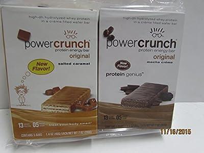 Power Crunch Protein Bar Variety 2 Pack Mocha Creme & Salted Caramel