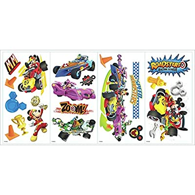 RoomMates Mickey And The Roadsters Racers Peel And Stick Wall Decals: Home Improvement