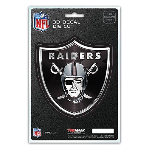 Team ProMark NFL Oakland Raiders 3-D (Raiders 3d License Plate)