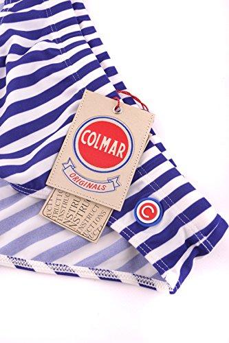 Colmar Originals Homme MCBI076035O Blanc/Bleu Polyamide Caleçon De Bain