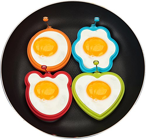 Nonstick Silicone Fried Egg Mold Heart Egg Ring Set For Cook