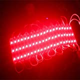 Rextin 20pcs 12V 7512 5050 SMD 3 LED Module RED Waterproof Light Lamp 3 years warranty for home garden xmas wedding party decoration or letter design