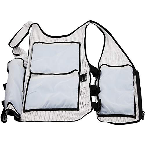 New Home Innovations Cooling Vest | Ice Vest - 8 x Body Ice Packs for Double Cooling Time - #1 Ice Cooling Vest for MS - Sport - Motorcycle - Cooking - Mascot - Cosplay Adjustable Cooling Shirt by New Home Innovations (Image #4)