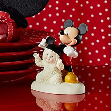 Department 56 Snowbabies Guest Collection Disney Mickey Mouse I m All Ears Figurine, 3.75 inch