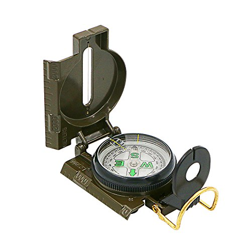 Hiking-Compass-Bukm-Field-Military-Marching-Army-Outdoor-Camping-Survival-Climbing-Biking-Lensatic-Metal-Sighting-Compass-with-Foldable-Metal-Lid-Army-Green
