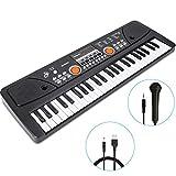 RenFox 49 Key Piano Keyboard Portable Electronic Kids Piano Keyboard Beginner Digital Music Piano Keyboard & Microphone Teaching Toy Gift for Kids Boy Girl