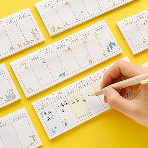 Office Decoration Sticky Notes - Pcs/Lot Cute Weekly Plan Memo Pad Post Week Planner Sticky Note Agenda Date Marker It Stationery Office School Supplies 6159 1 Pcs