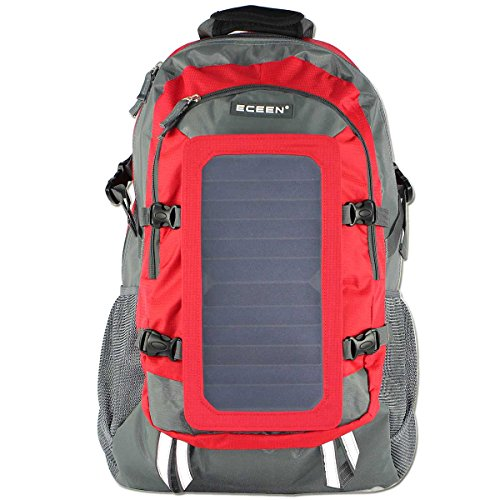 ECEEN® Solar Bag, Solar Charger Backpack With 7 Watts Solar Panel for iPhone, iPad, iPod, Sa