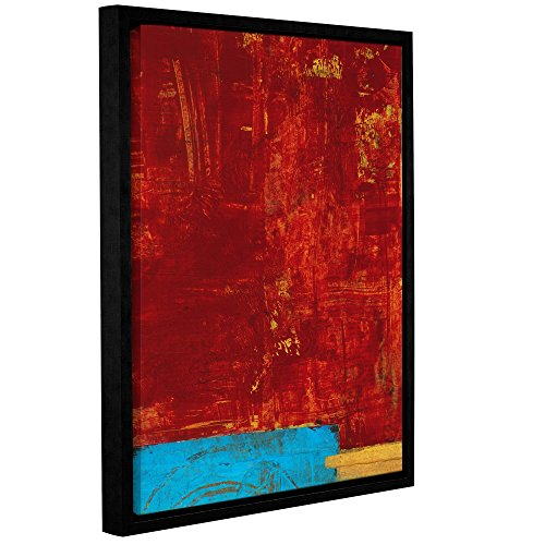 """UPC 636134150559, ArtWall Elana Ray's Red Abstract Gallery Wrapped Floater Framed Canvas, 24 x 32"""", Multicolor"""