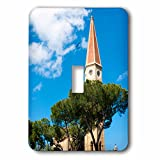 3dRose Danita Delimont - Tuscany - Bell tower, Cathedral of San Donato, Arezzo, Tuscany, Italy - Light Switch Covers - single toggle switch (lsp_249325_1)