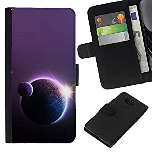 A-type ( Galassia Stelle 18) Colorida Impresión Funda Cuero Monedero Caja Bolsa Cubierta Caja Piel Card Slots Para Samsung ALPHA G850