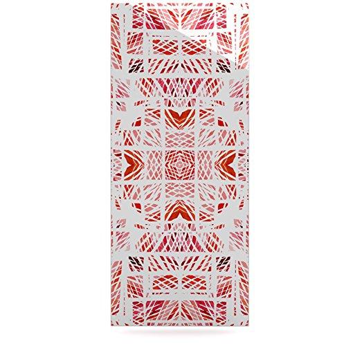 Kess InHouse Danii Pollehn Scandanavian Square Pink Red Luxe Rectangle Panel 24 x 36